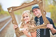 Cadre or mariage style vintage