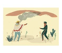 Mexican Standoff Poster by Naomi Wilkinson >> I am loving this ladies artwork. I am absolutely going to have to buy a print!
