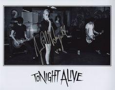 Tonight Alive Indie Rock Hottie Jenna McDougall Autographed 8x10 Photo $32,00