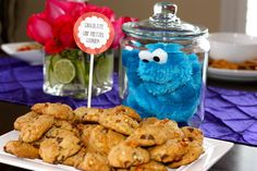 Cookie monster in a jar! hahaha | Catch My Party