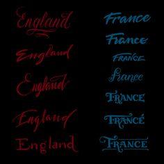 Elegant Hand-Lettered Logotypes Of Various Countries - DesignTAXI.com
