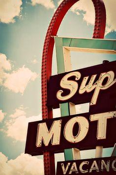 Route 66 Supai Motel Neon Sign  Seligman by RetroRoadsidePhoto, $35.00