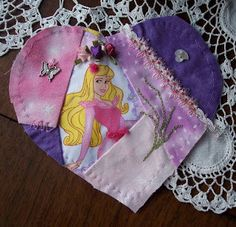 I ❤ embroidery & crazy quilting . . . Renea- This heart for Maddie and the quilt Maureen is putting together for her.
