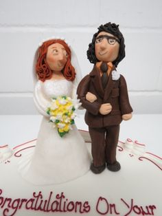 1970's style Wedding Cake Topper