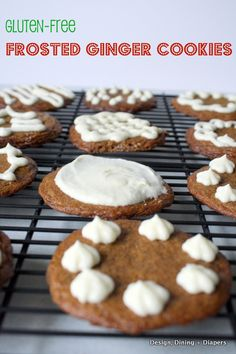Gluten-Free Ginger Cookies from designdininganddiapers.com #holidays #cookies #gingerbread