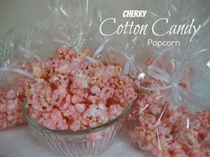 Cotton Candy Popcorn from Chocolate, Chocolate and more A tasty treat and so pretty!