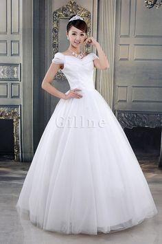 Robe de mariée romantique en tulle bucolique avec cristal de princesse