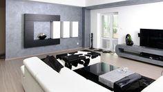 Modern living room design idea. Living Room Modern, Living Room Designs, Conference Room, Flat Screen, Room Ideas, Table, Furniture, Home Decor, Blood Plasma