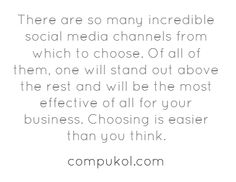 Effectively Choosing a Social Media Channel