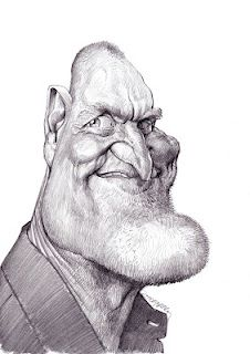 Artist:Jan Op De Beeck   Caricature:Woody Harrelson