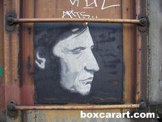 Aware ? ( boxcar art freight train graffiti ) | Flickr - Photo ... Boxcar, Train Art, Rail Car, Public Art, Just Go, Murals, Graffiti, Old Things, Cars