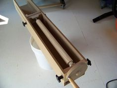 Jig for making large dowels, fluted columns, even tapered legs