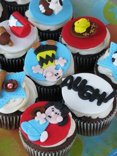 Charlie Brown & Lucy Cupcakes