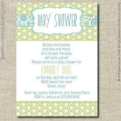 Printable Baby Shower Invitation - Boy