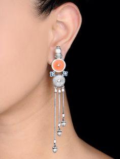 Handmade silver oxidized, enameled jewelry... Courtesy: Jaypore