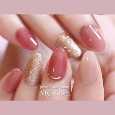 Pin by NailGet-Nail Designs on Nail Designs in 2019 Stylish Nails, Trendy Nails, Cute Nails, Gel Nail Designs, Beautiful Nail Designs, Korean Nail Art, Asian Nail Art, Asian Nails, Pink Gel Nails