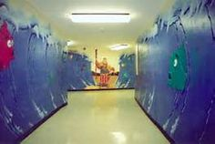 I can just imagine our hallway to the Sunday school rooms being decorated like this.