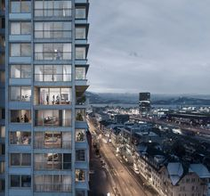 Competition visualizations for the architectural competition Projekt Pi in Zug. Our exterior and interior pictures for Boltshauser Architects. Image 3d, New Image, 3d Architectural Visualization, Craft Images, New York, Competition, Villa, Around The Worlds, Exterior