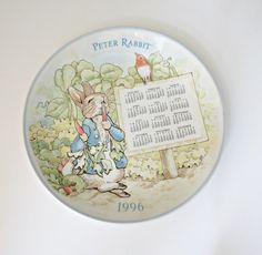 Wedgwood PETER RABBIT  Calendar Plate  - 1996