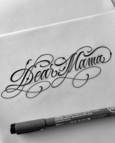 Tattoos And Body Art tattoo lettering Chicano Tattoos Lettering, Tattoo Lettering Styles, Kunst Tattoos, Script Lettering, 2pac Tattoos, Chicanas Tattoo, Tattoo Script, Tattoo Fonts, Mama Tattoos