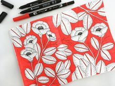 🌹🍃 me gusta el colorado!  ---  #graphicdesign #mechudiamante #illustration #ilustracion #flor #floral #flowers #flowerpower #nature #leaves #bloom #blooming #bloomwhereyouareplanted #roses #red #tombow #tombowusa