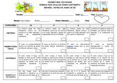 RÚBRICA PARA EVALUAR COMIC Periodic Table, Diagram, Novels, Periodic Table Chart