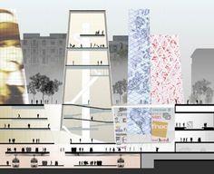 OMA Koolhaas LES HALLES, FRANCE, PARIS, 2003  Competition entry for New Forum Les Halles, Paris, France