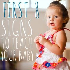 Why teach your baby sign language? Babies can understand verbal communication before they develop the skills required to verbally communicate themselves. Teaching your baby how to sign can provide them with a valuable communication skill that will enhance, rather than delay, their overall lang #signlanguageforbabies