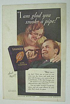 1932 Granger Tobacco With Man Smoking Pipe