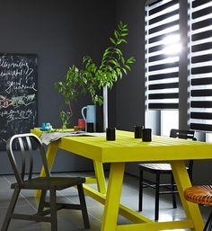 CORES NA DECORAÇÃO Cinza e amarelo A combinação de cinza e amarelo garante resultados incríveis!