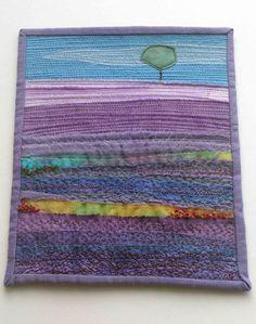 lavender fields,art quilting,landscape quilting