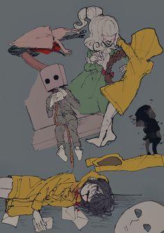 Kawaii Art, Kawaii Anime, Little Nightmares Fanart, Dont Hug Me, Arte Obscura, Aesthetic Japan, Little Games, Furry Drawing, Life Is Strange