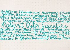 Looking for that perfect summer ink for your favorite fountain pen? Check out this review of Robert Oster Tranquility by Mountain of Ink. Pin for Later.