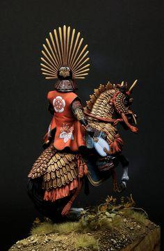 Hideyoshi Toyotomi by yoon · Putty&Paint Samurai Art, Samurai Warrior, Kamakura Period, Meiji Restoration, Japanese History, Military Modelling, Aikido, Toy Soldiers, Miniatures