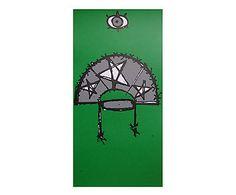Serigrafia Cangaceiro verde - 16x36cm