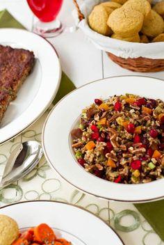 Cranberry, Apricot and Pecan Wild Rice Pilaf (Gluten Free + Vegan)