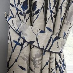 Pleated Curtains, Curtains Dunelm, Leaf Curtains, Panel Curtains, Navy Living Rooms, Living Room Windows, Linen Upholstery Fabric, Houses