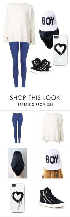 """""""^^"""" by cande-elf ❤ liked on Polyvore featuring beauty, Topshop, URBAN ZEN, BOY London, Zero Gravity and Superga"""