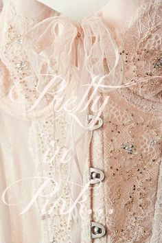 Pretty in Pink... Is it a corset or the top of a magnificent dress? Either way it's scrumptious!