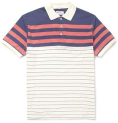 Gant Rugger Striped Cotton-Jersey Polo Shirt