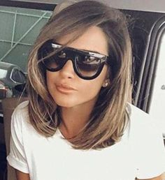 Spectacular long bob on brown hair - Spectacular long bob on brown hair - Cabello Rubio Medium Hair Styles, Short Hair Styles, Natural Hair Styles, Long Bob Haircuts, Bob Hairstyles, Coffee Brown Hair, Lob Styling, Corte Y Color, Light Brown Hair