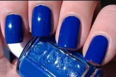 Royal blue Essie nails