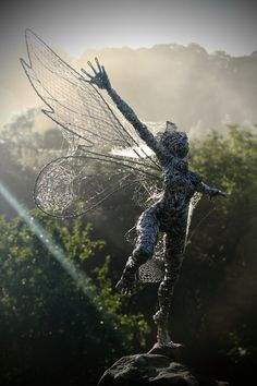 Freedom, amazing wire sculpture artist Robin Wight. check his website out www.fantasywire.co.uk