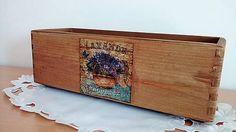 dekora15 / drevená debnička s motívom levandule