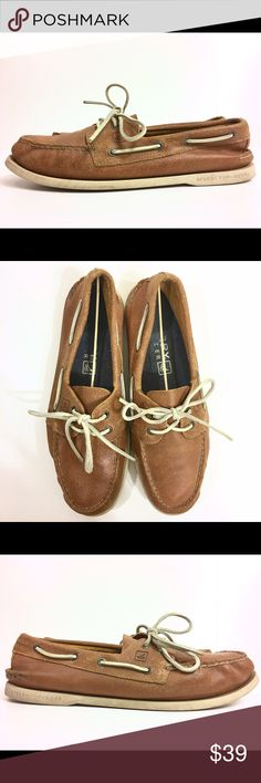 Sperry Top-Sider A/O 2-Eye Boat Shoe 11.5 M Best offers are appreciated  Sperry Top-Sider Men's A/O 2-Eye Salt-Stained Boat Shoe Item # 448244    Our Price: $39 MSRP: $89.99 - Save: 56%  Pre Owned Excellent condition with some small signs of wear (photos are exact condition of item)  Size: US 11.5 | EUR 45  These Sperry Top-Sider Boat Shoes offer: 360 degree Lacing system Leather upper Cushioned EVA Heel cup Non-marking rubber sole Shock absorption Genuine hand sewn tru-Moc construction…