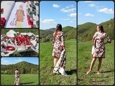 Dress inspired by Polish folk / Desinger / Pattern / Sewing by Iwakki.