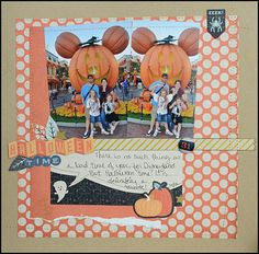 Disney Halloween layout by May Flaum