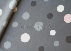 Stoff Punkte - Sanetta Baumwolljersey Maxidots graugrundig 0,5 m - ein Designerstück von larisschen-de bei DaWanda