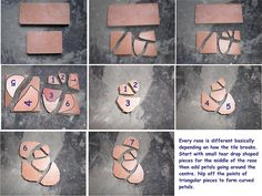 Mosaic rose tutorial Part oneAtti painted the wall and put up my pictures.My newly painted Studio wall Mosaic Flower Pots, Mosaic Pots, Mosaic Wall Art, Mosaic Diy, Mosaic Garden, Mosaic Crafts, Mosaic Projects, Mosaic Glass, Mosaic Tiles