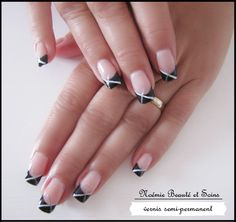 french noire vernis semi-permanent. https://www.facebook.com/estheticienne.barjouville?ref=bookmarks